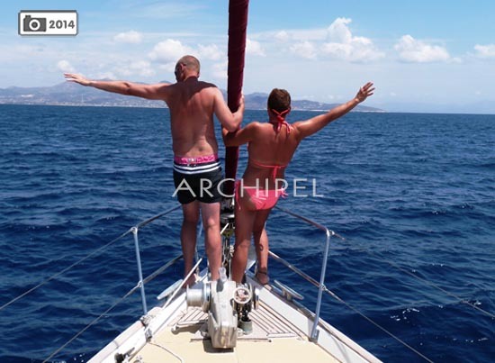 cabin charter in greece with archipel