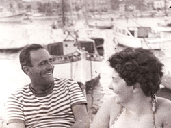 Dimitri and Odile Gritsis in 1962. Greece.