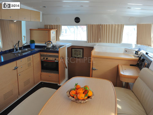 The fully equipped galley.