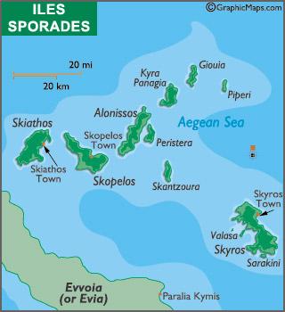 Les cinq zones de navigation en Grèce